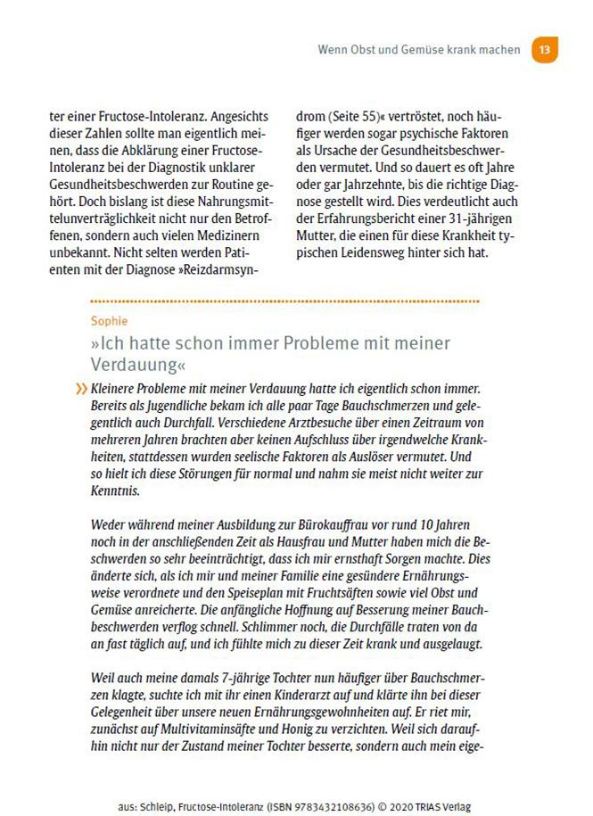 Ratgeber Fructoseintoleranz Seite 13