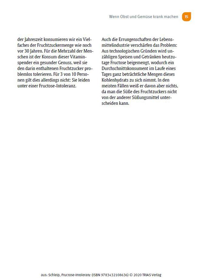Ratgeber Fructoseintoleranz Seite 15