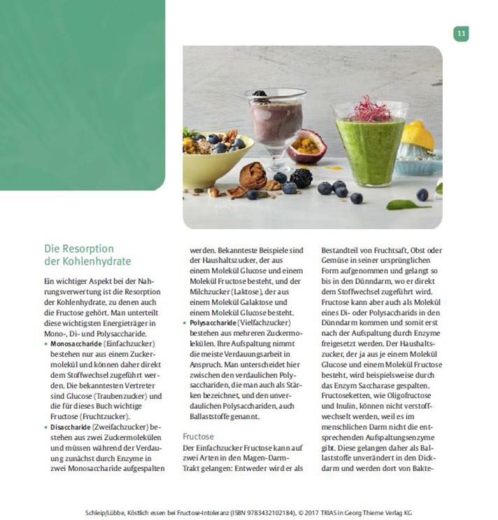 Kochbuch Köstlich Essen Fructoseintoleranz Seite 11